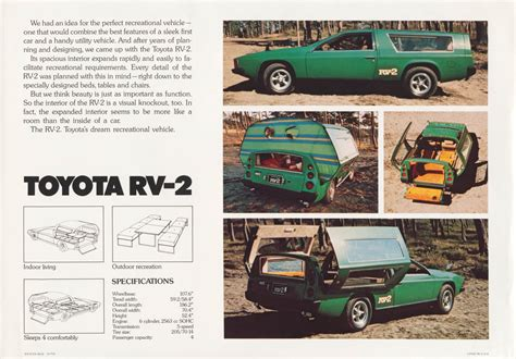 Toyota Brochures The Toyota Rv 2 Concept From 1972 Sports Car Cer