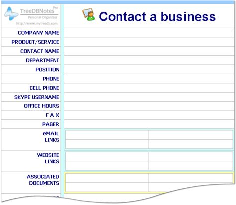 contact information template contact information form template word