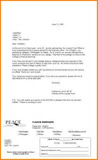 8 pledge reminder letter template accept rejection