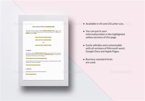 market research template in word docs
