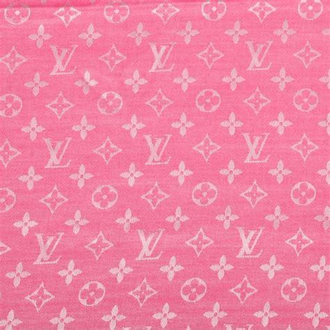 Lv Pink louis vuitton silk wool monogram denim shawl pivoine 68761