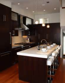 espresso kitchen cabinets contemporary kitchen