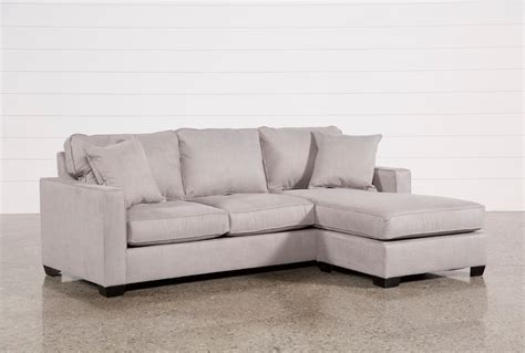 living spaces chaise sofa egan ii cement sofa w reversible chaise living spaces