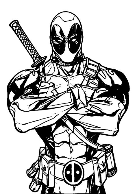 cool deadpool coloring pages marvel superhero deadpool coloring pages womanmate com