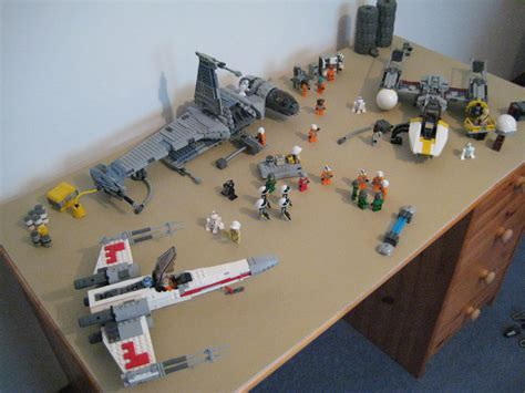 Design Custom Wars 010 moc rebel hangar diorama lego wars eurobricks