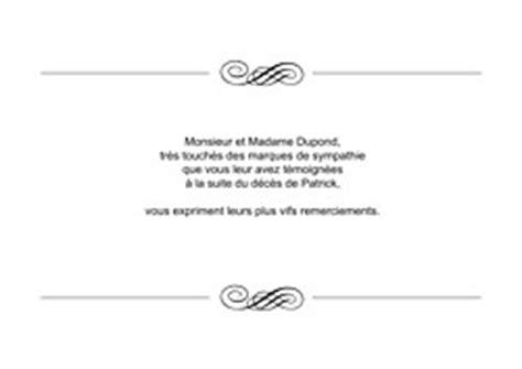 Lettre De Condoléance Entreprise Mod 232 Les De Remerciement D 233 C 232 S Popcarte
