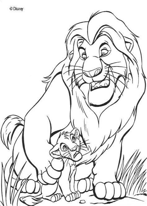 the lion king coloring pages mufasa the lion king with simba