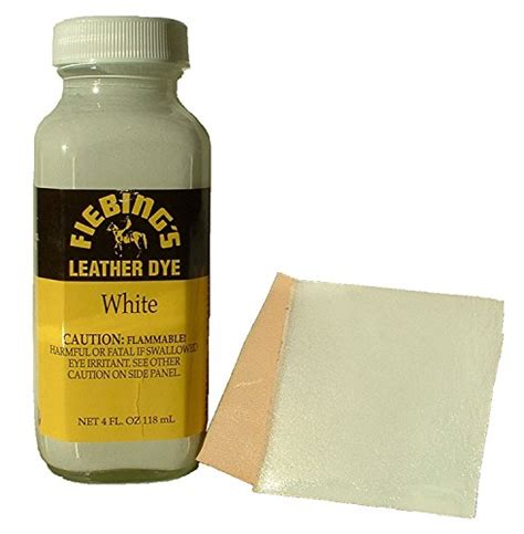 Fiebing S Tandy Leather Dye With Applicator White 4 Oz Where Can I Buy Leather Dye For My Sofa