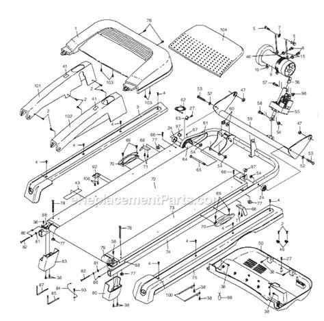treadmill diagram proform patl307060 parts list and diagram
