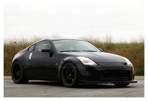 matte black nissan 350z wheeldude 350z with staggered svn s flat black
