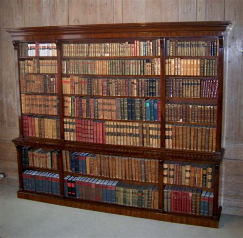 Large Open Bookshelf Antique Large Open Bookcase Summers Davis Antiques