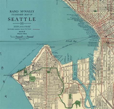 seattle map of usa map of seattle 1924 washington maps and vintage