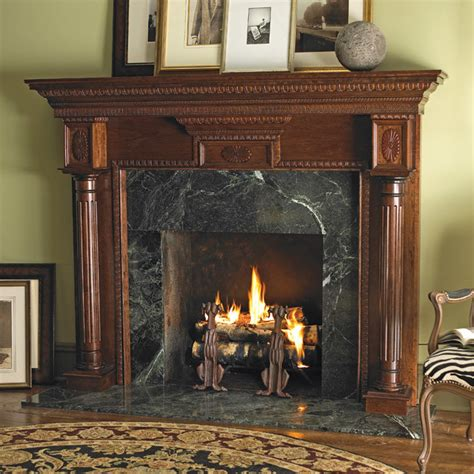 heritage wood fireplace mantel traditional indoor