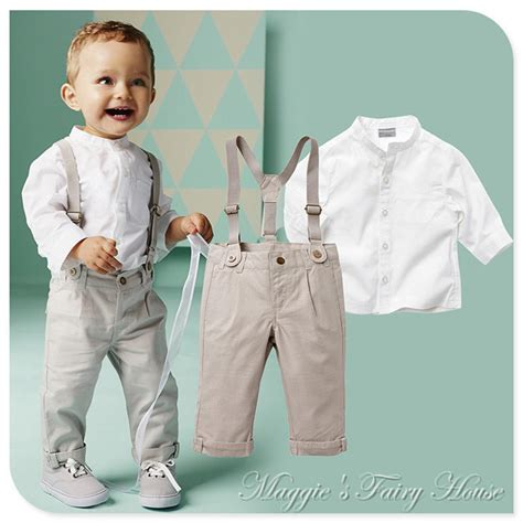 boys wedding attire baby boy linen suit ring bearer - Wedding Attire Toddler Boy