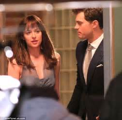 fifty shades of grey movie cast ana jamie dornan s christian grey presents dakota johnson s