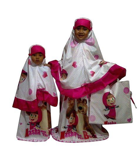 Mukena Anak Marsha And The mukena anak motif kartun karakter lucu