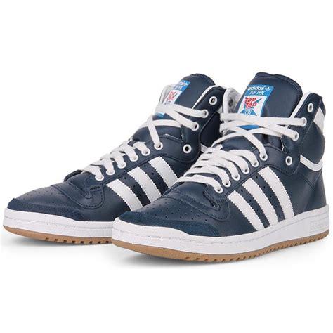 adidas shoes top ten adidas top ten hi shoes trainers blue white gum new