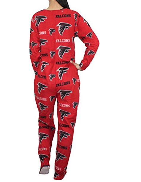 Sleep Wear Atl 0280sl nfl atlanta falcons womens one polar fleece footed romper s multicolor apparel accessories