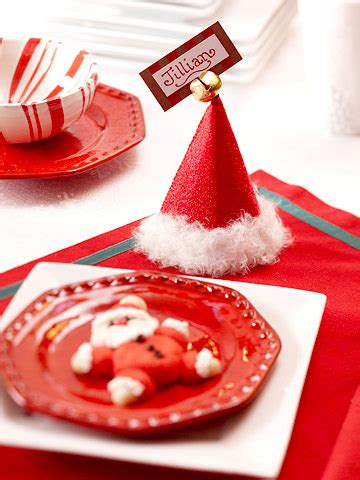 10 ideas for christmas place card holders the bright deck the holiday s santa hat placecard holder and snowman