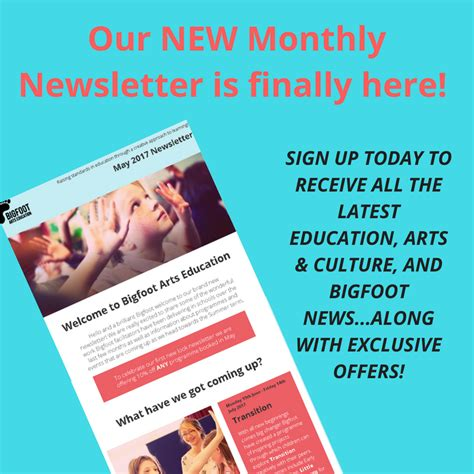 New Newsletter News by Celebrating Our New Monthly Newsletter Bigfoot