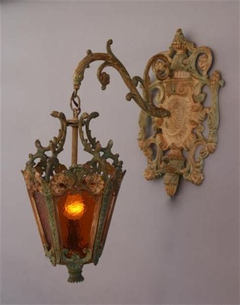 Chandelier Sconces Wall 4732 Ornate Cast Iron Italianate Lantern Antique Outdoor