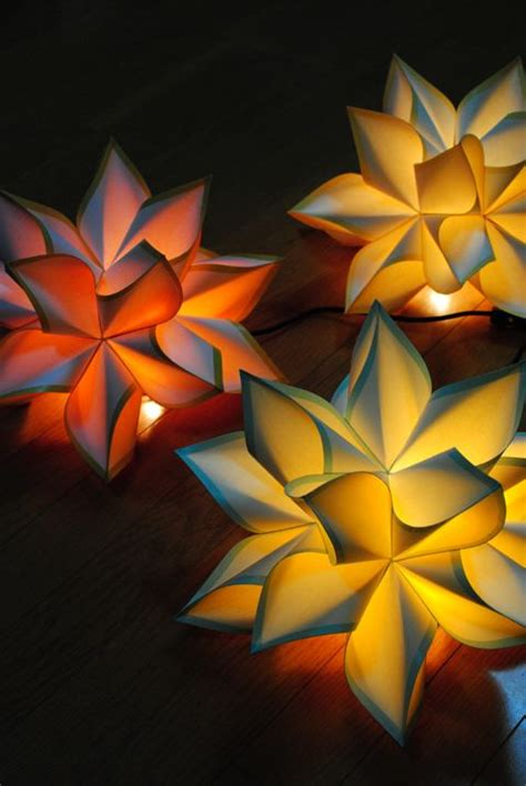 Origami Japanese Lantern - ls lights beautiful paper