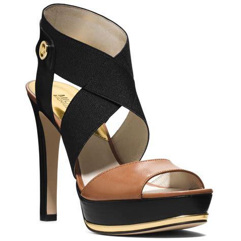 michael kors platform sandals michael kors michael meadow platform sandals in black