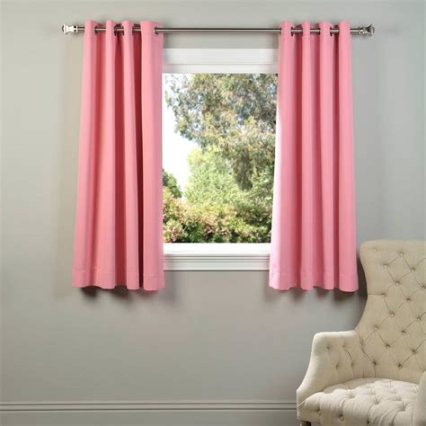 Pink Grommet Curtains Exclusive Fabrics Furnishings Precious Pink Grommet Blackout Curtain 50 In W X 63 In L