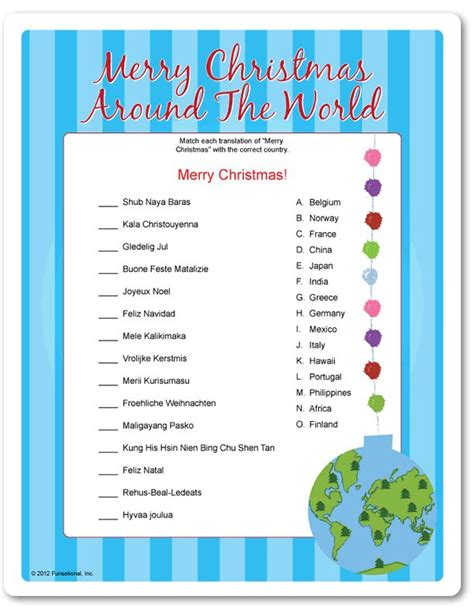 christmas office games printable 34 best santa around the world images on merry holidays and
