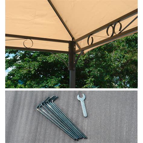 metall pavillon 3x4m pavillon gartenpavillon garten sonnenschutz 220 berdachung