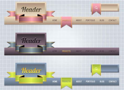 great design header website headers design vectors