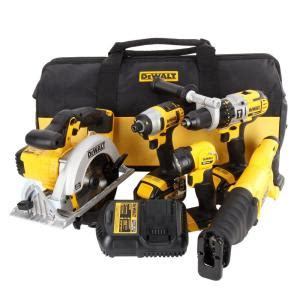 dewalt 20 volt max 3 ah lithium ion combo kit 5 tool