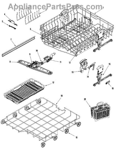 jenn air dishwasher parts diagram parts for jenn air jdb2100aws rail rack assembly mdl