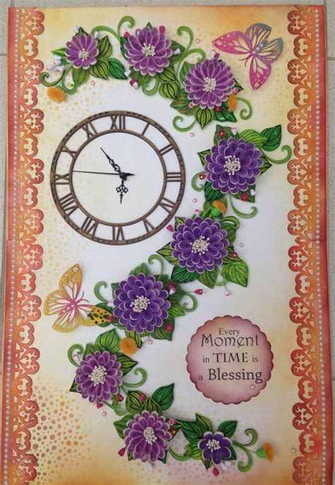 quilling clock tutorial paper quilling wall clocks paper quilling pinterest