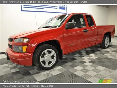victory red  chevrolet colorado ls extended cab