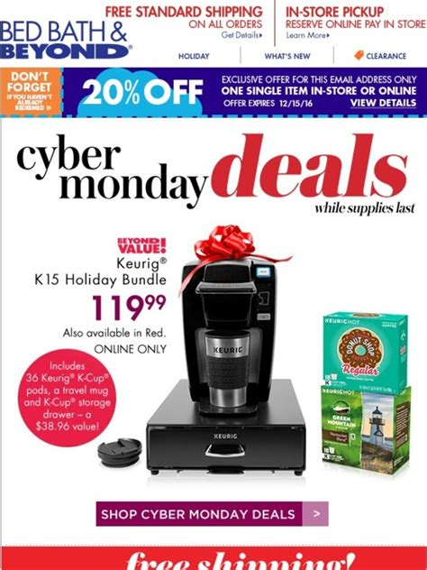 bed bath and beyond cyber monday bed bath and beyond last chance free shipping on all