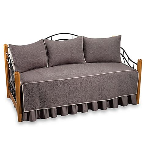 bed bath and beyond vallejo buy vallejo 100 cotton quilted daybed set in grey from