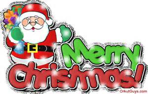 Merry christmas santa clause glitter for facebook sharing