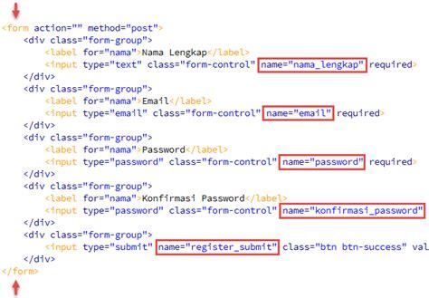 membuat blog php mysql membuat form register sederhana php mysql