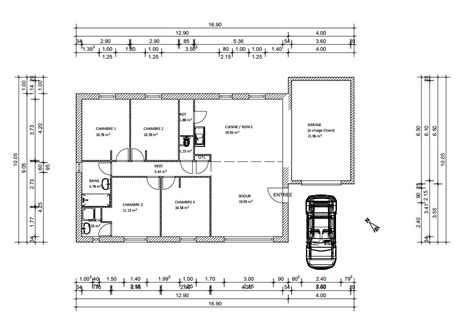 plan pavillon 100m2 plan maison plein pied 100m2 rectangle 102 messages