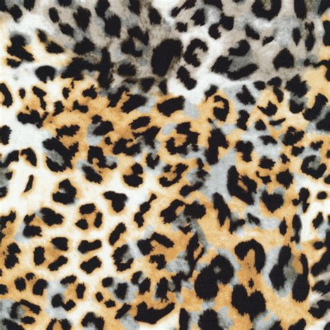 leopard print fabric leopard spots animal print cotton fabric bty ebay