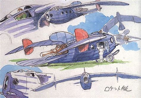 film production ghibli film castle in the sky prop design aircrafts