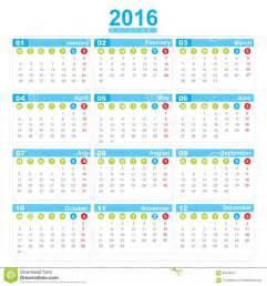 Calendario 2018 Semanas Calendario Con Numero De Semanas 2016 Calendar Template 2017