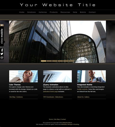 go html template html photography website template a04 black and mobile version