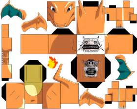 charizard paper free printable papercraft templates