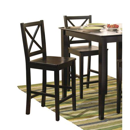Virginia Cross Back Stool 24 Set Of 2 Espresso by Virginia Cross Back 30 Quot Bar Stool Set Of 2
