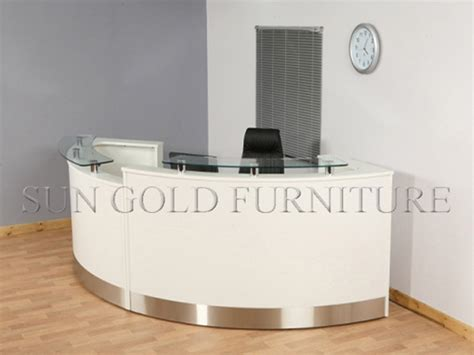 Modern Curved High Glossy White Salon Reception Desk Sz White Salon Reception Desk