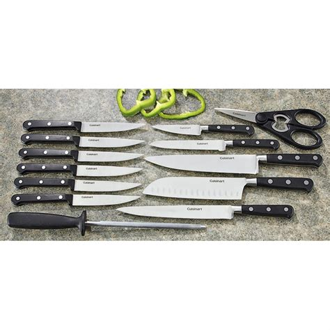 14 pc cuisinart 174 forged cutlery set 162651 kitchen