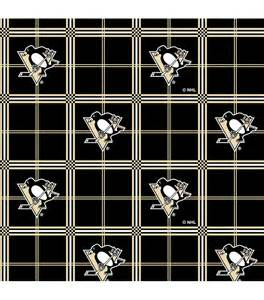 pittsburgh penguins nhl plaid flannel fabric at joann