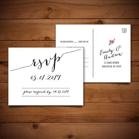 rsvp cards for weddings templates 25 best ideas about wedding response cards on